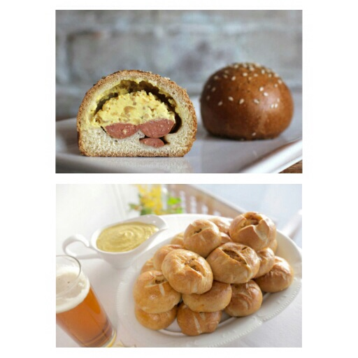 Milk Bar Ballpark Bomb vs. Bratwurst Stuffed Pretzel Rolls